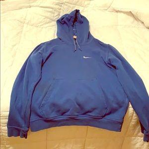 Medium Blue Nike Men's hoodie